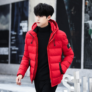 Image 3 - 2020 drop shipping New Fashion Men Winter Jacket Coat Hooded Warm Mens Winter Coat Casual Slim Fit Student Male Overcoat ABZ82