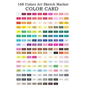 Image 5 - TOUCHNEW 80 צבע מקצועי אמנות סמני סט סקיצה סמני כפול בראשות צבע מנגה גרפיטי עט ציור אספקת אמנות