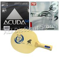 Sanwei HC 5 Table Tennis Blade With DHS TinArc3 DONIC ACUDA S2 Rubber With Sponge For
