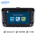 Free Shipping 7 inch Quad Core Android RNS 510 2 din vw radio Android 5.1 original OEM For Golf 5 6 Jetta Mk5 Mk6 Passat Tiguan