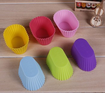 Oval Shape MaFen Cup  Silicone Muffin Cake Cupcake Cup Cake Mould Case Bakeware Maker Mold Tray Baking Jumbo