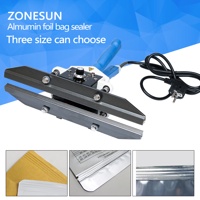 ZONESUN FKR400 hand impulse sealer with cutter handheld heat impulse sealer Manual sealing machine details about 4 hand impulse sealer 110volts new