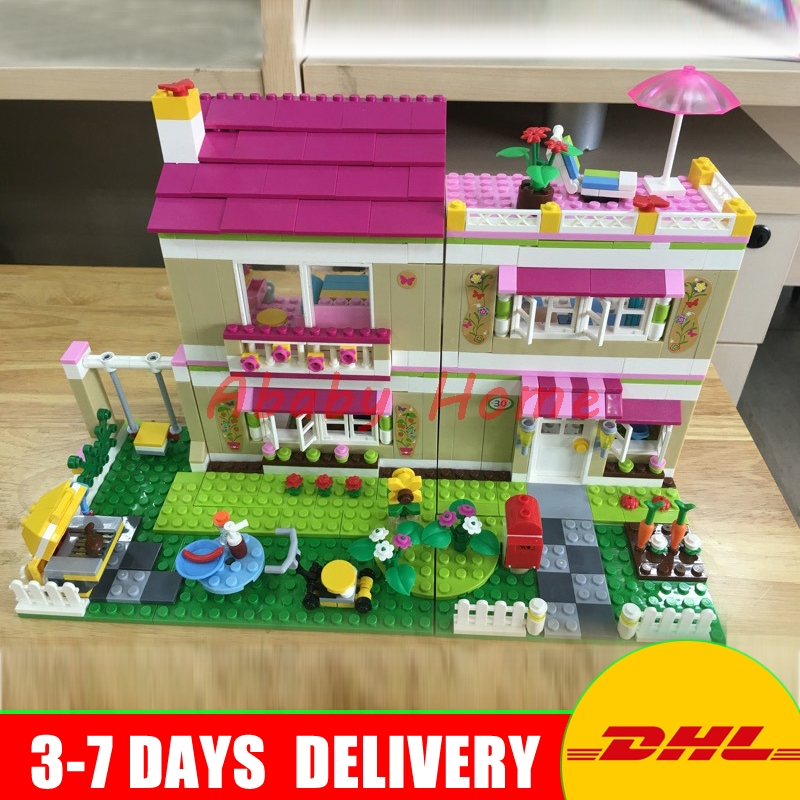 DHL Bela 10164 Olivia's House 695Pcs Educational Building Blocks Bricks Toys Compatible With Children Gifts shirly new rest stop dream house building blocks compatible with lego bricks girl s educational toys birthday christmas gifts