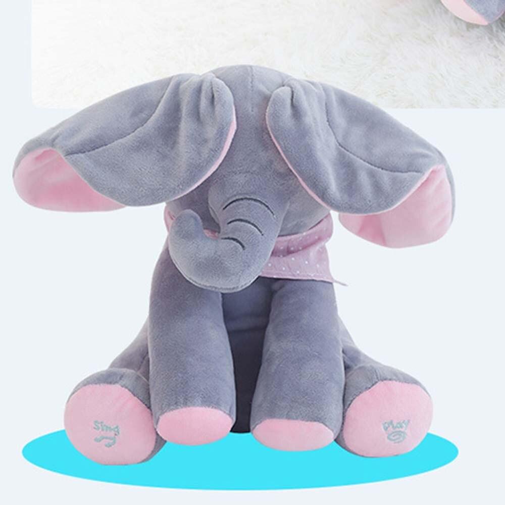 Симпатичный плюшевый слон музыкальные игрушки PP Хлопок Мягкие Маленький слон куклы младенца, игрушка маленькая летать, как плюшевая кукла