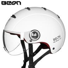 BEON городской открытый лицо винтажный мотоциклетный шлем Capacete половина КАСКО реактивный шлем мото Ретро Чоппер поплавок