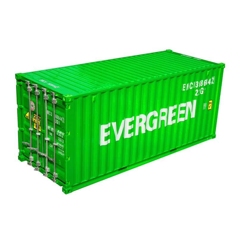Collection Diecast Toy Model Gift 1:20 Scale EVERGREEN 20 GP Truck,Shipping Container Model For Business Gift, Decoration