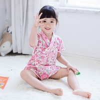 2017 autumn kid silk robe kimono robes bridesmaid dress children bathrobe sleepwear baby gilrs clothes children's bathrobe