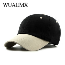 Wuaumx NEW Spring Baseball Cap Men Women Hats And Caps Dad Hat Summer Hip Hop Snapback Cap Patchwork Trucker Hat casquette homme new fashion brand casquette trucker hater snapback unisex leather baseball caps cappelli snapback hip hop hat for men women