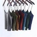Sexy terciopelo de la manera recortada tumblr metal color de tocar fondo informal sin mangas mujeres tops verano blusa entallada camiseta 2017 nueva tt2328