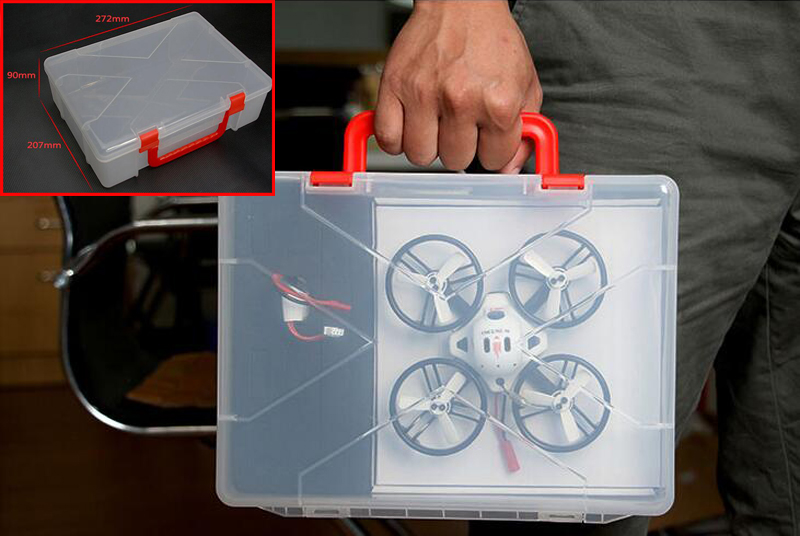 1PC Plastic Storage Box Carrying Case Hard Protection Box Bag Handbag Drone Outdoor For KINGKONG Mini Brushless FPV ET100 ET130 spark storage bag portable carrying case storage box for spark drone accessories can put remote control battery and other parts
