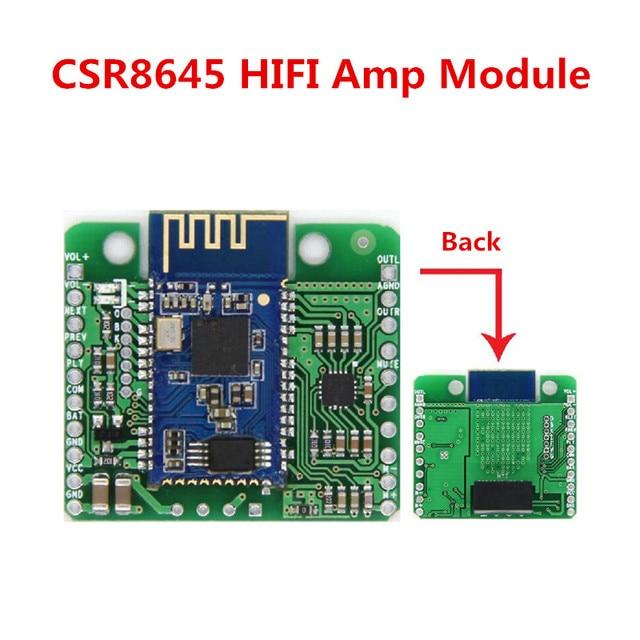 DC 12V/5V CSR8645 APT-X Lossless Music Hifi Bluetooth 4.0 Receiver Board Amplifier Module for Audio Car Amplifier Speaker