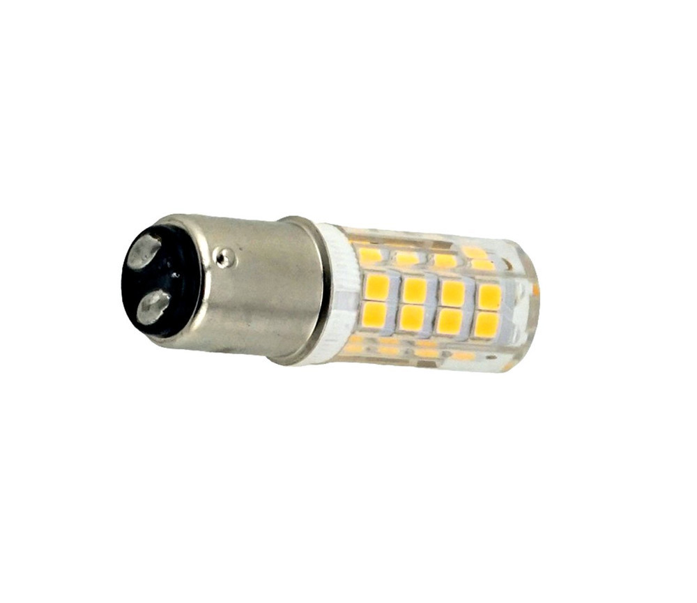 Us 9 6 Ba15d Double Contact Bayonet Base Led Light Bulbs 110 220v 5 Watts 350lm Warm White T3 T4 C7 S6 Led Halogen Replacement Bulb In Led Bulbs