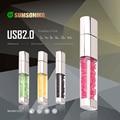 Fashion Crystal USB 2.0 Flash Pen Drive Custom Gift USB Flash Drive 10 Colors USB Key Flash Memory Stick 32GB 16GB 8GB 4GB