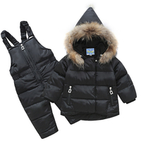 Baby Boys Clothes Girls Clotheing Set Winter White Duck Down Coat Jumpsuits Sports 9 24 Months Jacket Warm Waterproof 2017 New