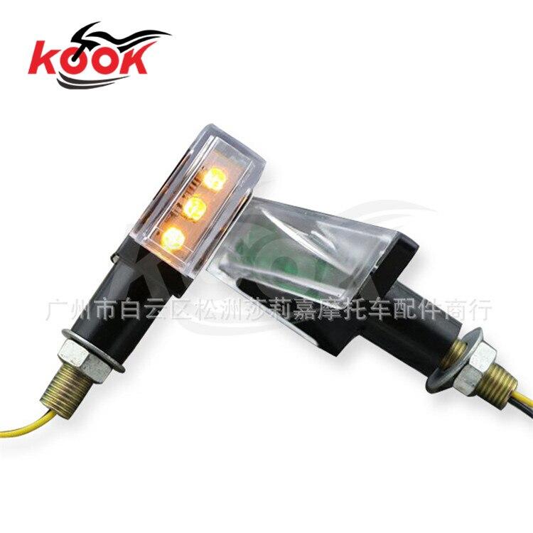 Luz ámbar accesorios de la motocicleta universal moto señales de giro indicadore