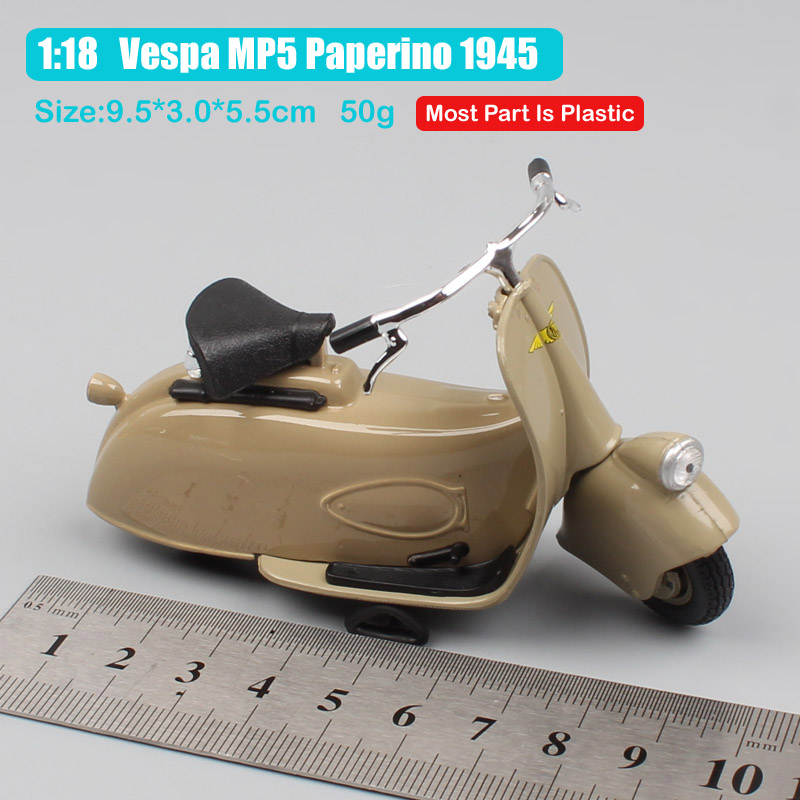 kid 39 s 1 18 scale vintage classic maisto Piaggio Vespa MP5 Paperino 1945 motorcycle diecast bike toys models Street Free wheels in Diecasts amp Toy Vehicles from Toys amp Hobbies