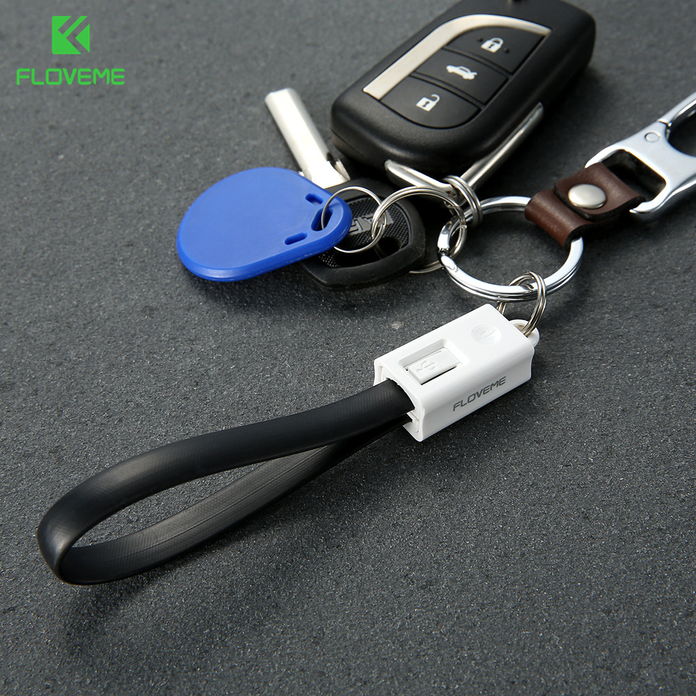 Floveme Mini Keychain For Iphone Micro Usb Cable For
