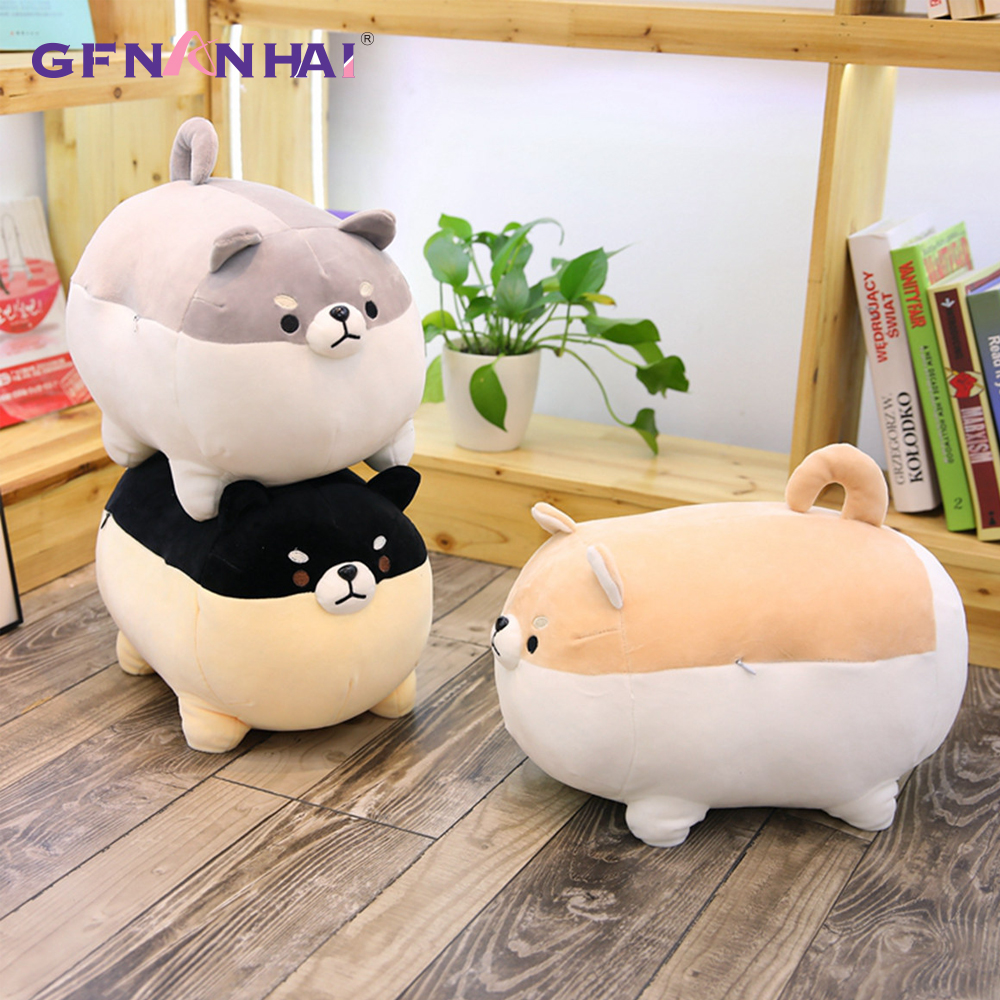 1pc 40cm Cute Fat Shiba Inu Dog Plush Toy Kawaii Expression Animal Corgi Dog Plush Pillow Dolls Sofa Cushion Decor Kids Gift