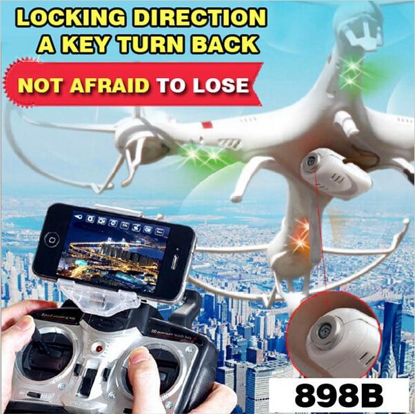 Free shipping HQ898B Aerial UAV huanqi RC Drones 2MP HD CAM WIFI FPV Real-time 6-axis 2.4G Quadcopter Headless VS H11D X6SW H12C