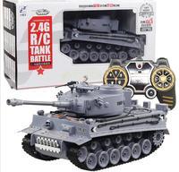Electric remote control tank 2.4g fighting model car smoke large children tank water tank toy
