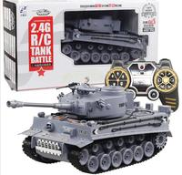 Electric remote control tank 2.4g fighting model car smoke large children tank water tank toy