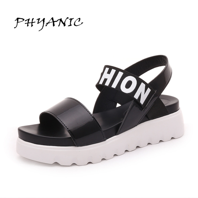 PHYANIC Summer Gladiator Sandals Beach Platform Shoes Woman Wedges Sandals Slip On Flats Creepers Casual Women Shoes PHY3337 2017 summer new rivet wedges sandals creepers women high heel platform casual shoes silver women gladiator sandals zapatos mujer