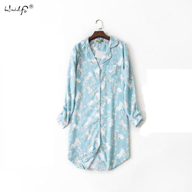 100% Cotton Women's Flannel Nightshirt 2
