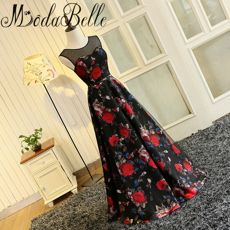 Modabelle Vestidos De Graduacion Largos 2017 Gaun Prom Long Floral - Gaun acara khas - Foto 4