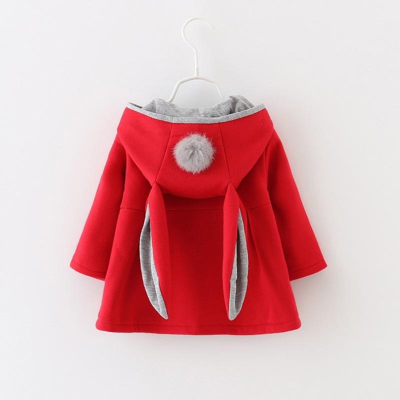 Mētelis meitenēm rudens / ziemas cute karikatūra trušu auss jaka - Bērnu apģērbi - Foto 3