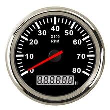 Цифровой тахометр двигателя счетчик моточасов Тахометр Датчик 6000/8000/9990 об/мин Метр Дисплей для мотора мотоцикла морской автомобиля