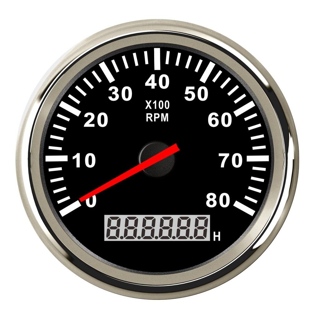 Digital Engine Tach Hourmeter Tachometer Gauge 6000 /8000 /9990 RPM Meter Display for Motorcycle Motor Marine Car-in Tachometers from Automobiles & Motorcycles