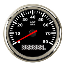 Digital Engine Tach Hourmeter Tachometer Gauge 6000 /8000 /9990 RPM Meter Display for Motorcycle Motor Marine Car