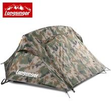 Tent single tent double layer aluminium rod outdoor font b camping b font