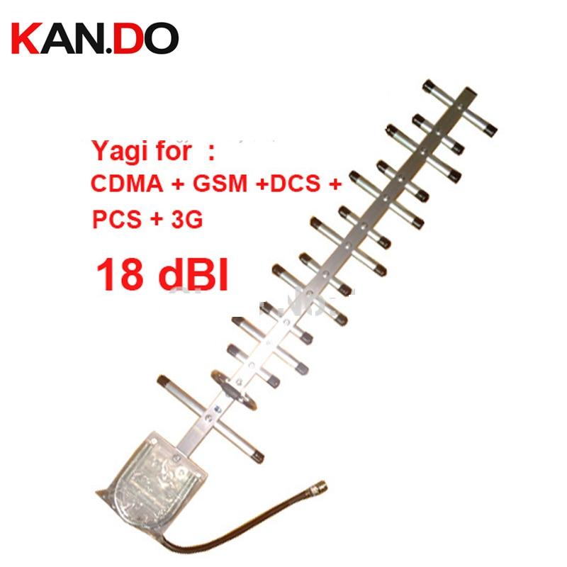POUR La Russie gain 18dbi yagi antenne pour 800 Mhz/900 Mhz + 1800 mhz 1900 mhz 2100 Mhz booster antenne, CDMA + GSM + DCS + PCS + 3G antenne booster