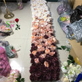 SPR 2*2.4m High quality ombre wedding flower wall stage backdrop decorative wholesale artificial flower table centerpiece