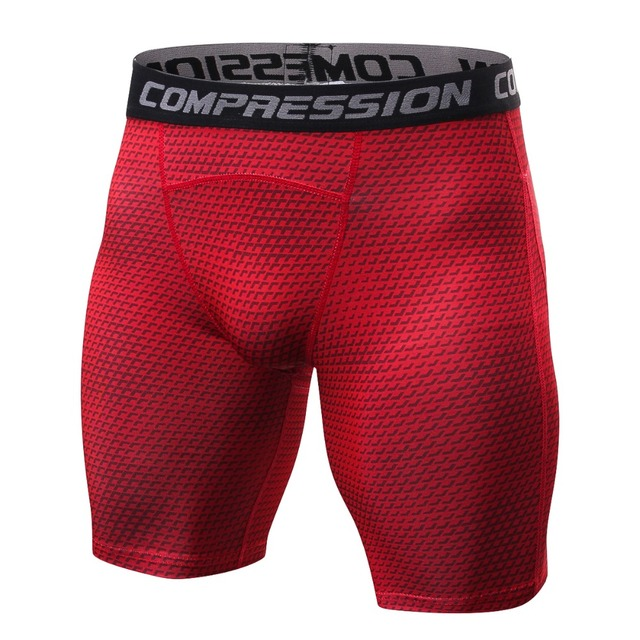 2019 new style Breathable Men's Compression Shorts MMA Workout Fitness Bottoms Crossfit Skin Tight Comouflage Short Pants