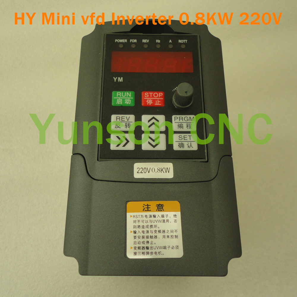 Buy 0 8kw 800w 1hp huanyang mini size for Vfd for 1hp motor