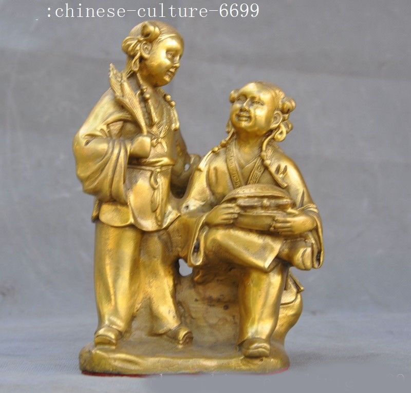 christmas 8old Chinese brass folk fairy girl sisters statue halloweenchristmas 8old Chinese brass folk fairy girl sisters statue halloween