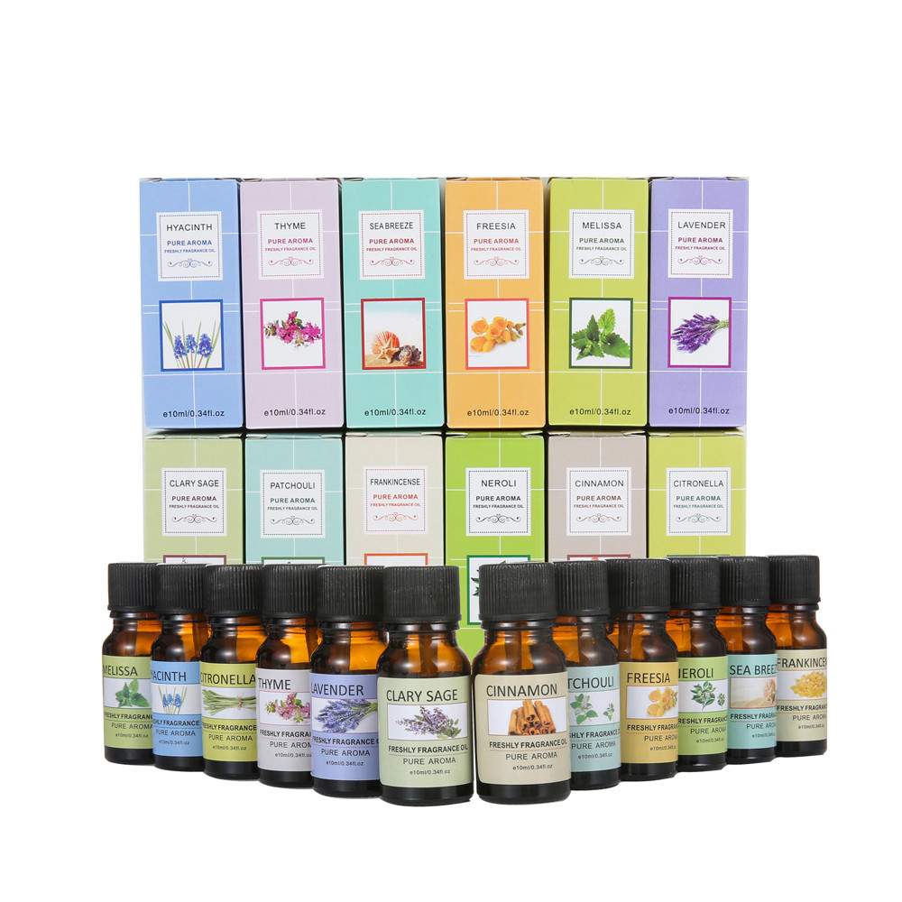 Essential Oil Pure For Aromatherapy Diffuser Humidifier Patchouli Cinnamon  Hyacinth Sage Lemongrass Sea Breeze Lavender Orange
