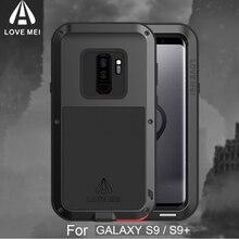 Противоударный S9 Plus чехол для телефона для samsung Galaxy S9+ LOVE MEI Life водонепроницаемый металлический чехол для samsung S9 S9plus полная защита