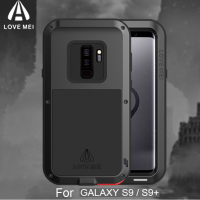 Shockproof S9 Plus Phone Case For Samsung Galaxy S9 LOVE MEI Life Waterproof Metal Case For