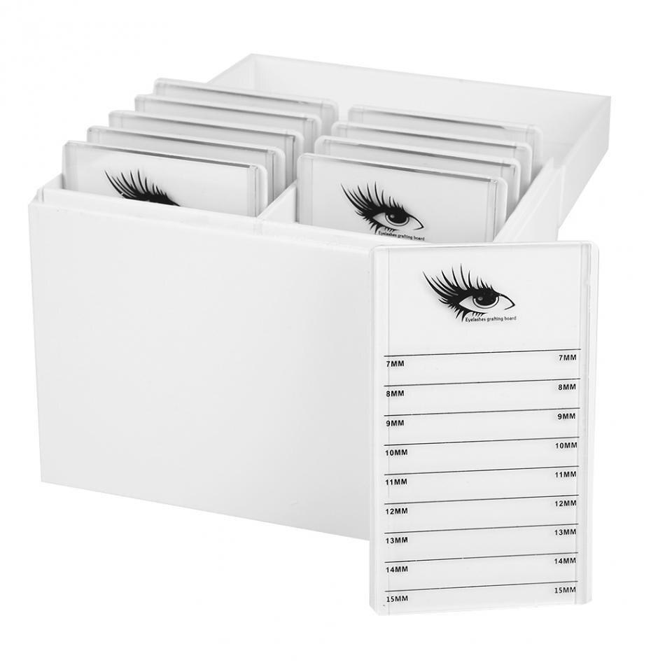 10 Layers Clear Eyelash Storage Box Makeup Organizer False Eyelashes Glue Pallet Holder Display Grafting Eye Lashes Extension