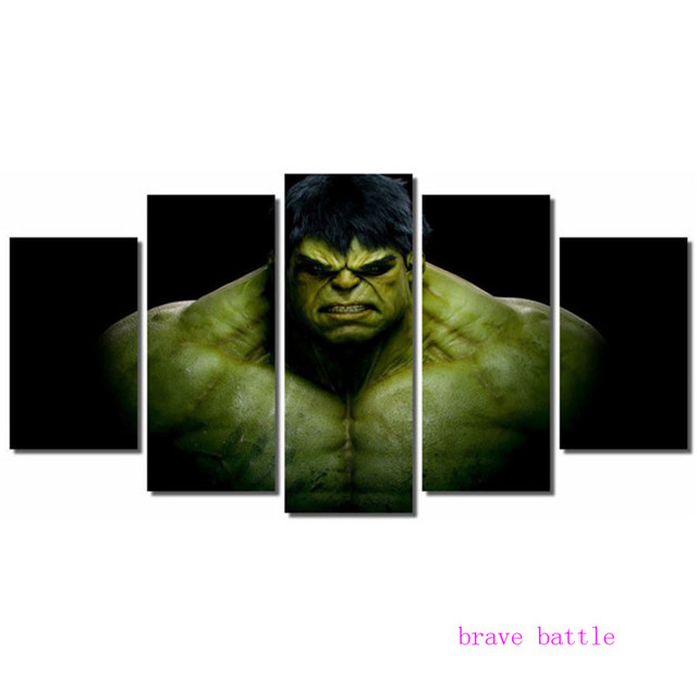 Incredible Hulk Marvel Justice League 5 Pieces Canvas Painting Print ...
