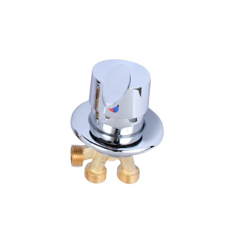 Vidric Leaves Handle Bathtub Hot & Cold Mixing Faucet Split Jacuzzi Faucet Liner Cylinder Side Sitting 4-hole Faucet Accessories