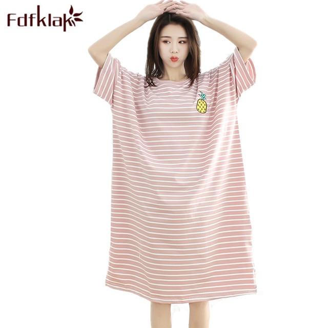 eb9282fde Hot Sleepwear Summer 2019 Cotton Nightgown Women S Sleeping Wear Lingerie  Dresses Long Night Gown Women