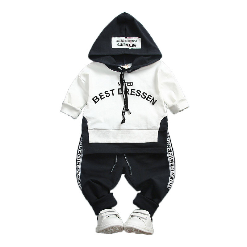 Spring Autumn Toddler Cotton Clothes Sets Baby Girl Boy Sport Hooded T-Shirt Sweatshirt Pants 2pcs Children Kids Casual Suits baby boys girls sets 2018 winter t shirt pants cotton kids costume girl clothes suits for boy casual children clothing 3cs204