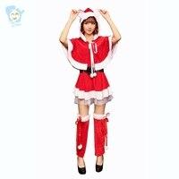 Fancy Kerstman Jurk Vrouwen Kerst Kostuums Sexy Bunny Meisje Cosplay Volwassen Stitch Kostuum