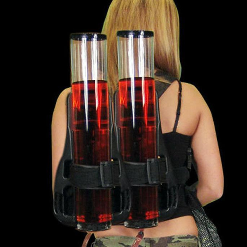 Les deux épaules sac à dos vin canon boissons brasseurs bouilloire machine jumelles Double tube vin diviseur casier à vin extérieur Bar-in Becs verseurs à vin from Maison & Animalerie    1