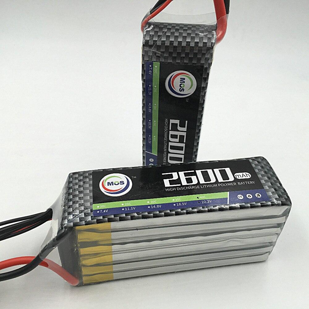 Free shipping MOS 5S lipo battery 18.5v 2600mAh 35C For RC AIRPLANE 2pcs package mos 3s lipo battery 11 1v 1300mah 35c for rc airplane free shipping