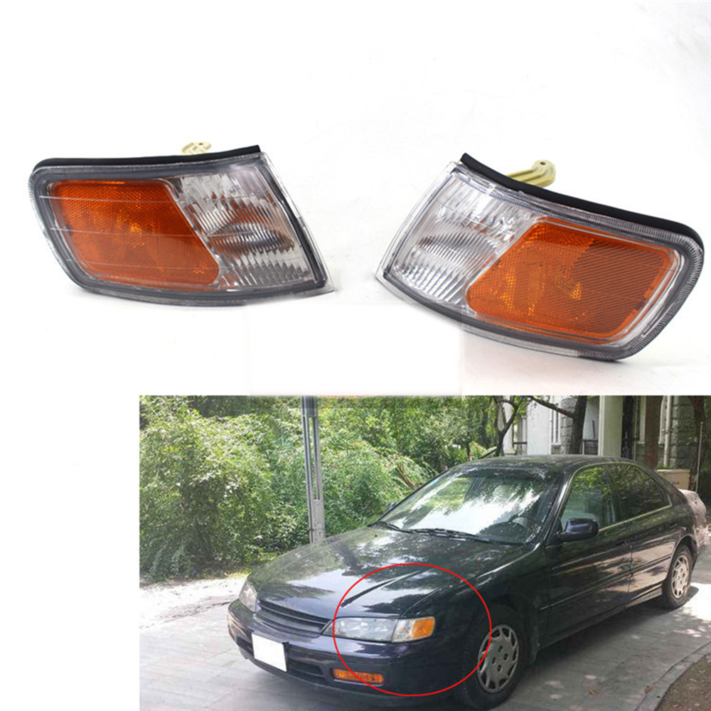 APC Front Clear Lens Car Corner Turn Signal Lights for Honda Accord CD4 CD5 1994~1997 Corner Park Light Turn Signal Marker Lamp car bifocal fog lens for honda cr v accord taiwan product front bumper lights high quality free shipping